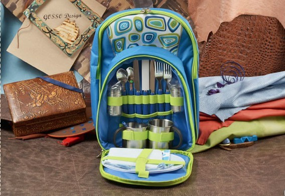 Набор для пикника в рюкзаке Gift на 2 персоны, 17 предметов