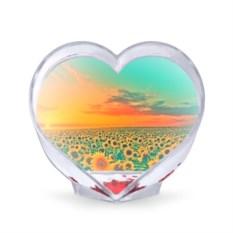 Сувенир-сердце Подсолнух