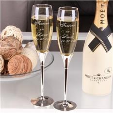 Набор бокалов для шампанского Asti, с гравировкой