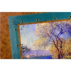 Картина из кожи Антибы. Вид с садов Салис Клод Моне