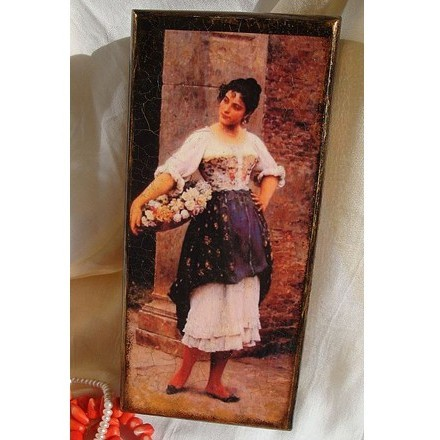 Авторская шкатулка «Венецианская цветочница»
