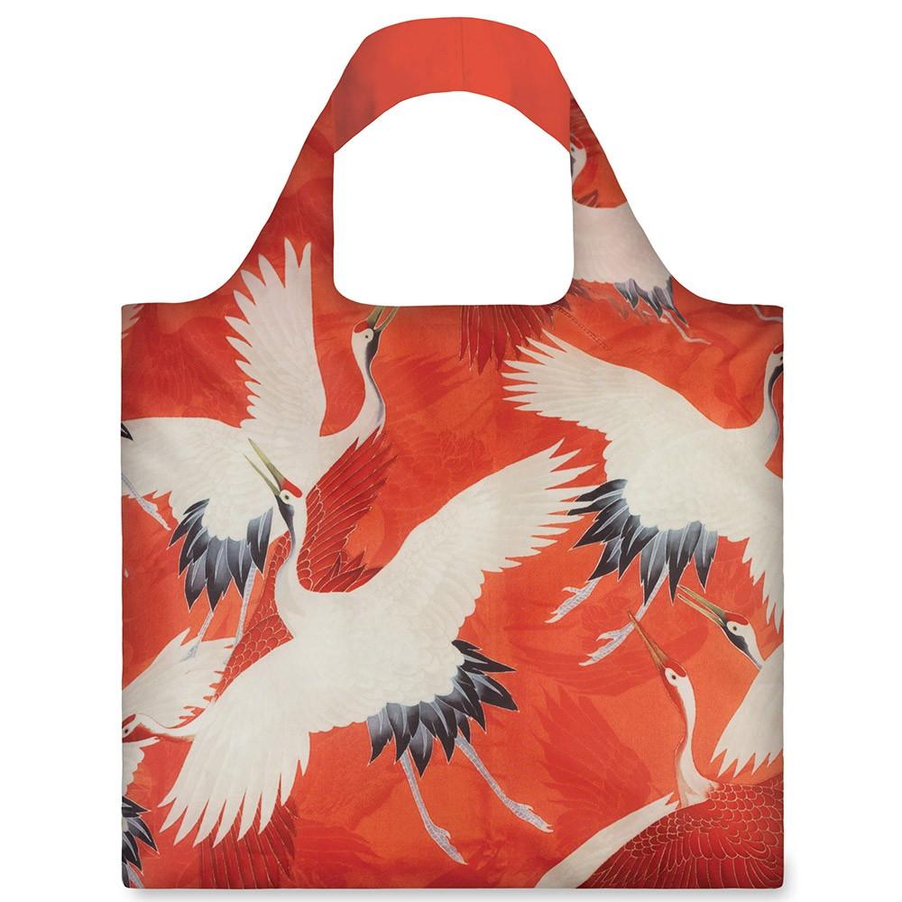Сумка для покупок White and Red Cranes