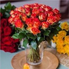 Букет 25 штук роз Кения