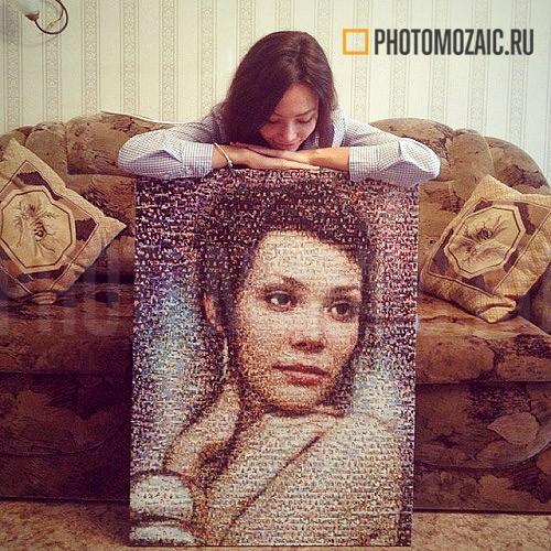 Фотомозаика в подарок на день рождения девушке