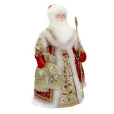 Игрушка Дед Мороз с золотистым мешком
