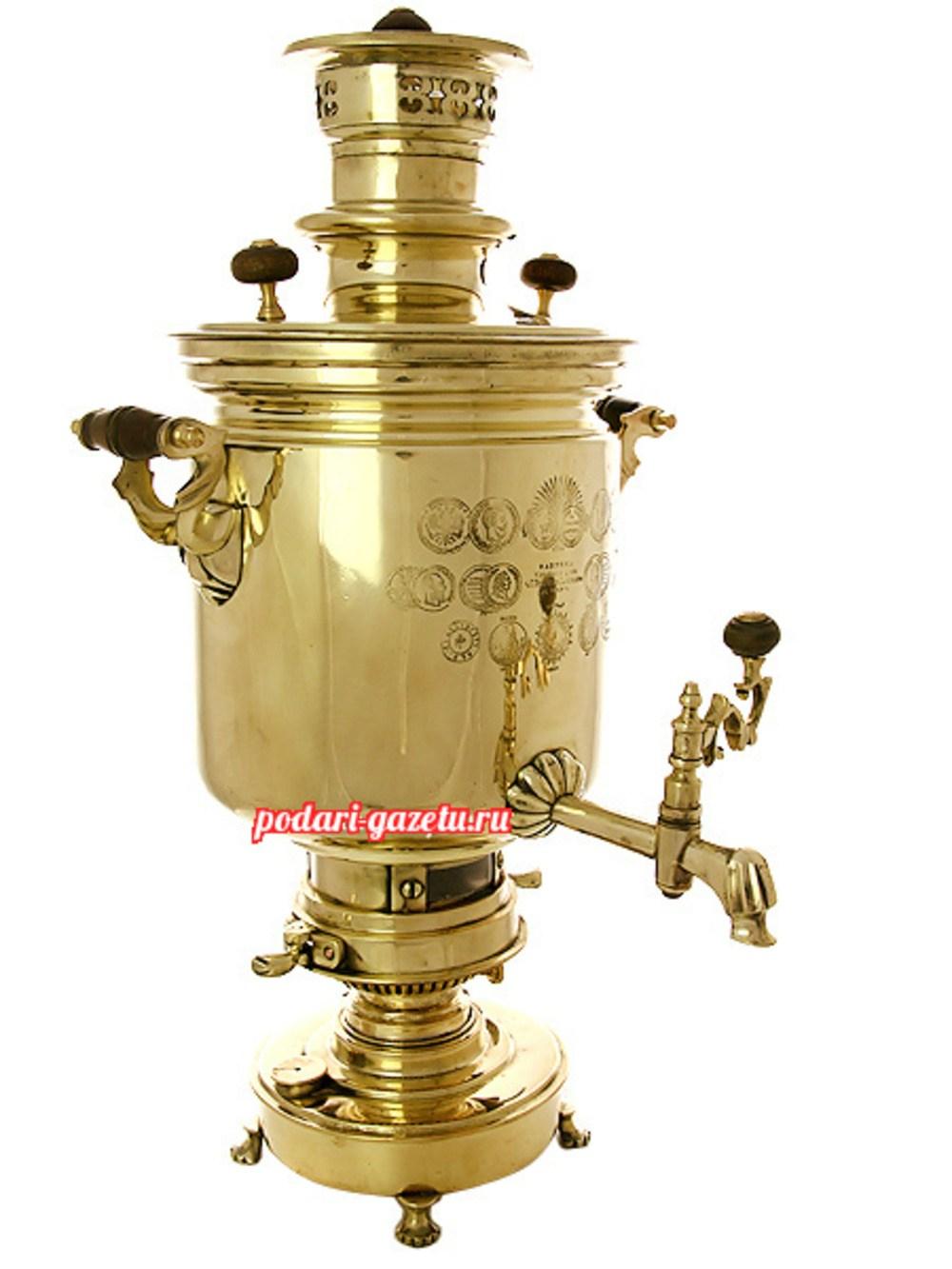 Угольный самовар (жаровый дровяной) (4 литра) цилиндр с медалями керосиновый