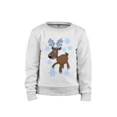 Детский свитшот Олень и снег