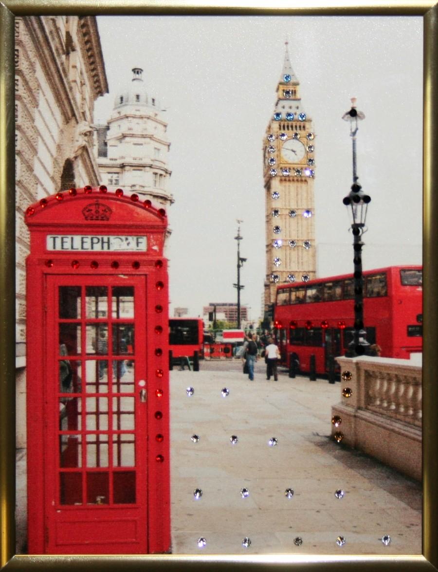 Картина с кристаллами Swarovski Англия малая