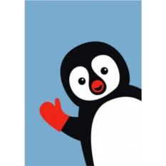Открытка Пингвин;