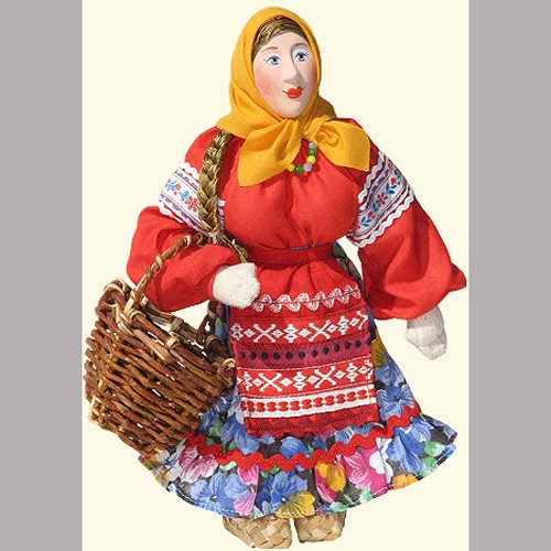 Кукла «Девушка с лукошком»