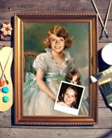 Портрет по фото Маленькая принцесса