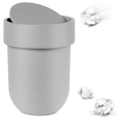 Серый мусорный контейнер Touch с крышкой