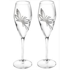 Два бокала для шампанского King Flower