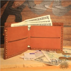 Кожаный кошелек Рыжий лис