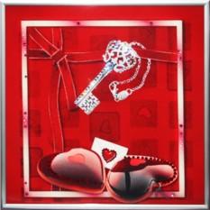 Картина с кристаллами Сваровски Ключ к сердцу