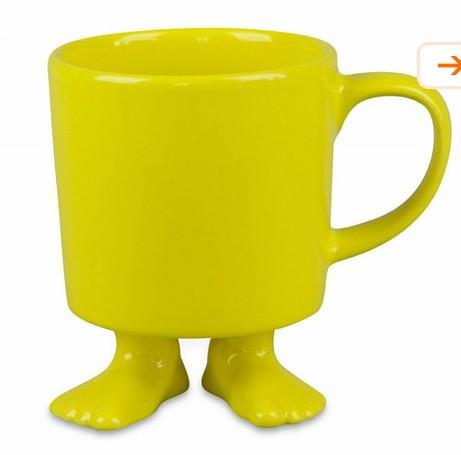 Кружка Ножки, желтая
