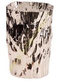 Серебристая ваза Moss
