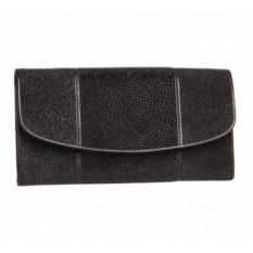 Женское портмоне из кожи ската (8 карманов для карт)