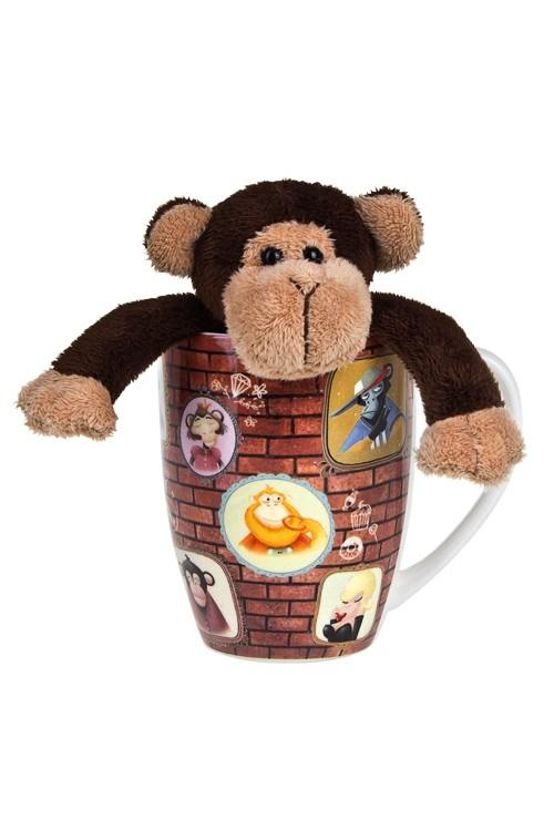 Подарочный набор Портреты обезьянок (кружка и игрушка)