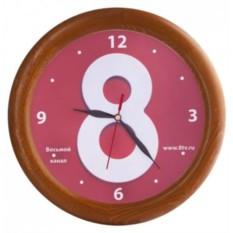Настенные часы с деревянным ободом «Дуб»