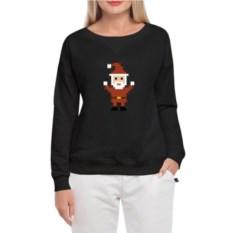 Женский свитшот Pixel Santa