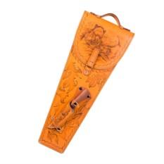 Шампура в колчане из натуральной кожи
