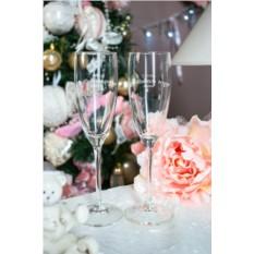Бокалы для шампанского с текстом Счастья в новом году
