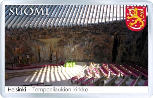 Магнит: Финляндия. Церковь Темппелиаукио