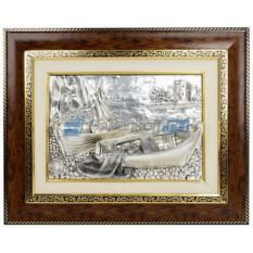 Панно Парус, лодки и сеть