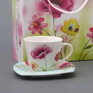 Кофейный набор на 2 персоны «Цветы»