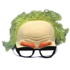 Карнавальная маска Очки с волосами