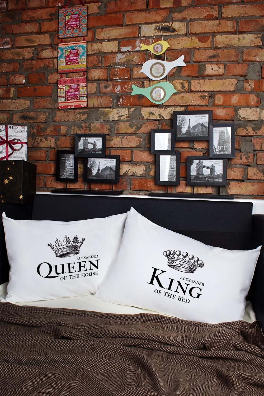 Наволочки с Вашим текстом King & Queen