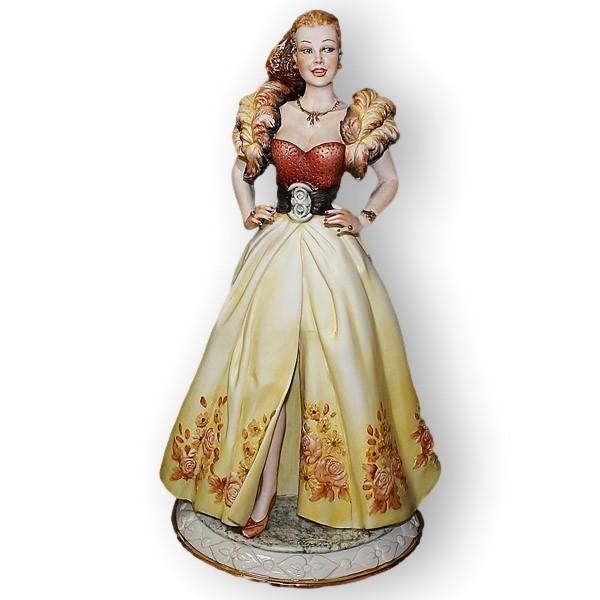 Статуэтка из фарфора Леди с перьями от La Medea