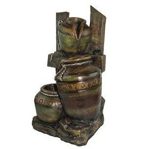 Декоративный фонтан из камня Кувшины (высота 60 см)