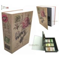 Книга-сейф с кодовым замком Rose (высота 27 см)