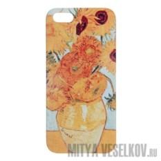Чехол для IPhone 5 Подсолнухи Ван Гога