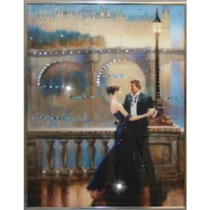 Картина с кристаллами Swarovski Танец Любви