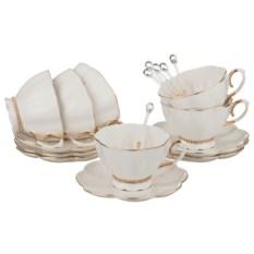 Чайный сервиз Роскошь на 6 персон с ложками