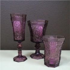 Бокалы для вина из цветного стекла Аmethyst