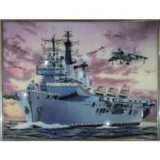 Картина с кристаллами Swarovski Военный корабль