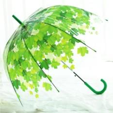 Зонт-трость Зеленые листья