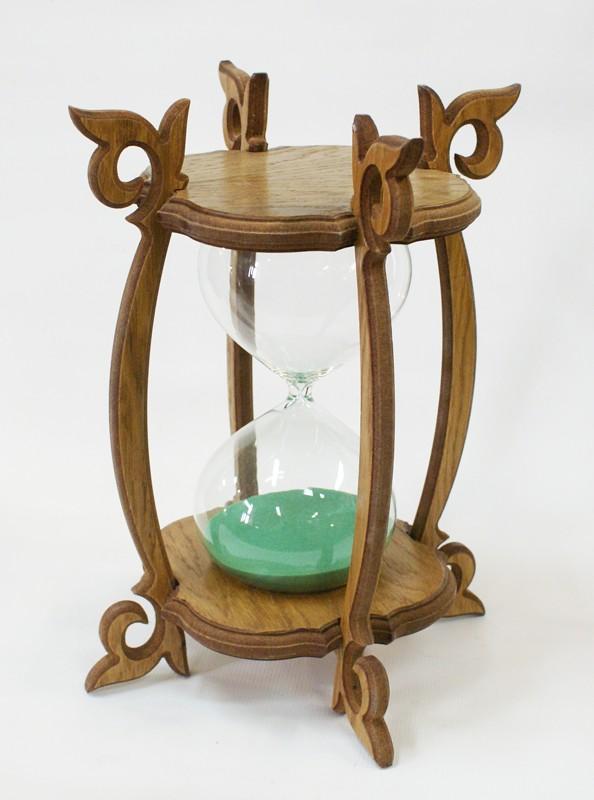 Песочные часы с зеленым песком на 30 минут