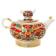 Заварочный чайник Красный петух (фарфор)