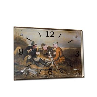 Настенные часы «Охотники на привале» с вашими фото
