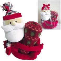 Плед с игрушкой Дед мороз