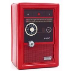 Металлическая копилка-сейф «Ретро радио»