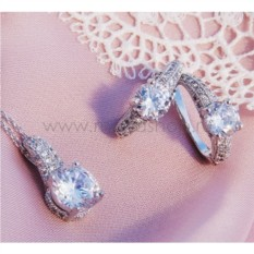 Комплект «Париж» с цирконием и австрийскими кристаллами