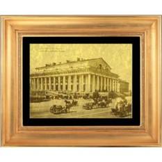 Гравюра из золота Здание биржи