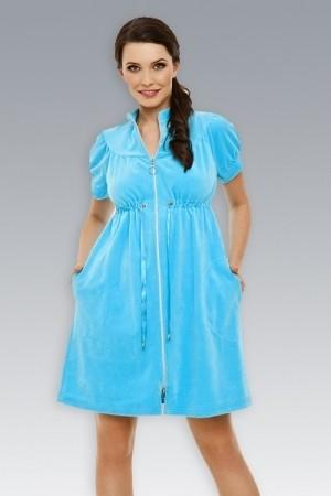 Короткий велюровый халат для женщин Laete