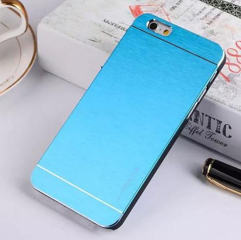 Голубая накладка для iPhone 6 Motomo New